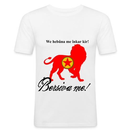 Bersîva me!  - Männer Slim Fit T-Shirt