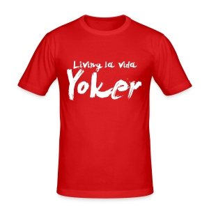 Living La Vida Yoker - Men's Slim Fit T-Shirt