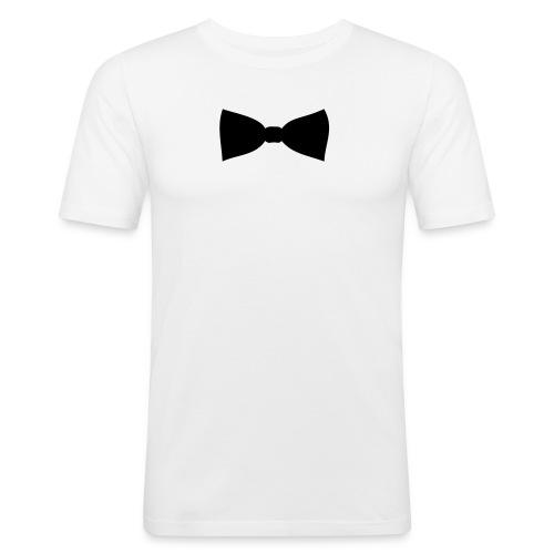 Glamour sløyfe hvit - Slim Fit T-skjorte for menn