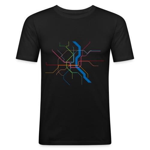 Subway Cologne - Männer Slim Fit T-Shirt