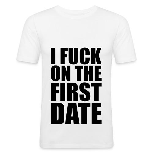 Herre T-Shirt - med tekst - Herre Slim Fit T-Shirt