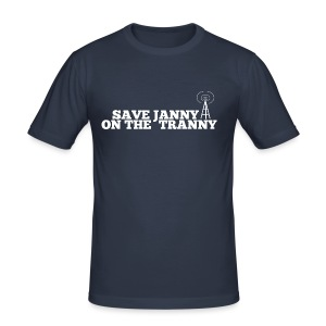 Save Janny on the Tranny - Men's Slim Fit T-Shirt