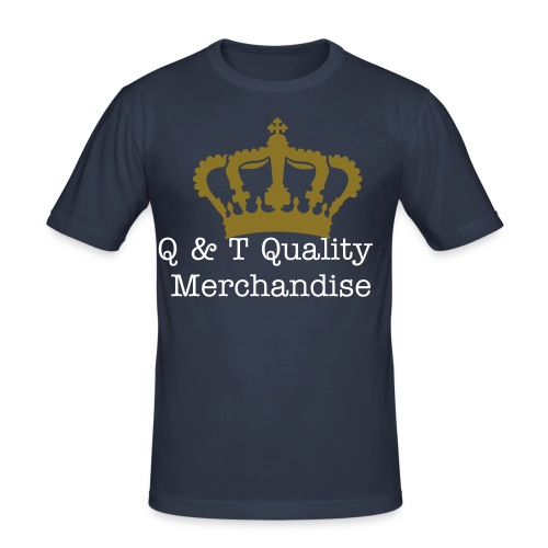 Q & T Quality Merchandise Shirt (Blue) - Men's Slim Fit T-Shirt