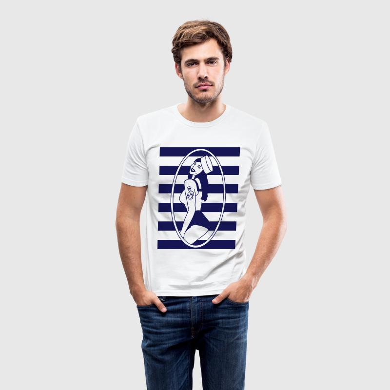 Hello Sailor - Men's Slim Fit T-Shirt