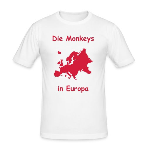 Die Monkeys in Europa-1-Rot - Männer Slim Fit T-Shirt