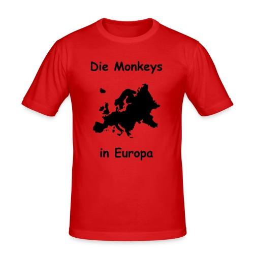 Die Monkeys in Europa-1-Schwarz - Männer Slim Fit T-Shirt