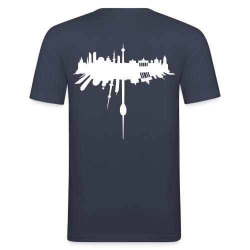 Berlin StreetAir T-Shirt  by StreetAir - Männer Slim Fit T-Shirt