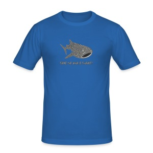 tiershirt walhai wal hai fisch whale shark taucher tauchen diver diving naturschutz endangered species - Männer Slim Fit T-Shirt