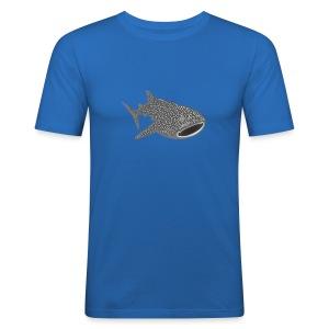 tiershirt walhai wal hai fisch whale shark taucher tauchen diver diving naturschutz endangered species - Männer Slim Fit T-Shirt