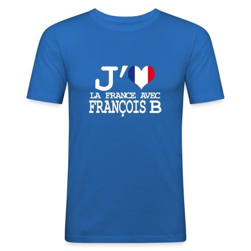 J'aime la France avec François B - T-shirt près du corps Homme