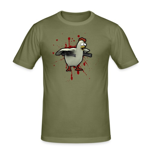 Foreign Legion Robo Chicken - Men's Slim Fit T-Shirt