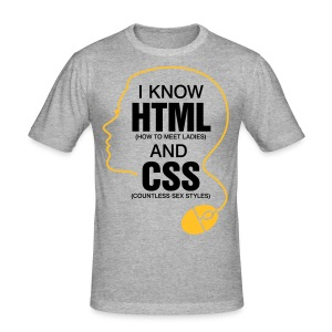 I Know Html 3 (2c)++ T-Shirts - Men's Slim Fit T-Shirt