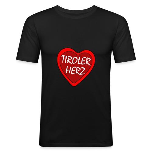 Tiroler Herz - T-Shirt slimfit - Männer Slim Fit T-Shirt