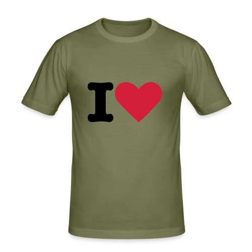 I LOVE - Camiseta ajustada hombre