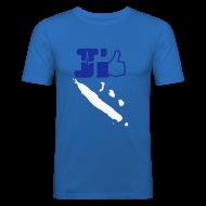 Tee shirts ~ Tee shirt près du corps Homme ~ J'aime la Nouvelle Calédonie