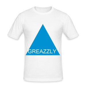 GREAZZLY SHIRT SLIM FIT WHITE - Männer Slim Fit T-Shirt