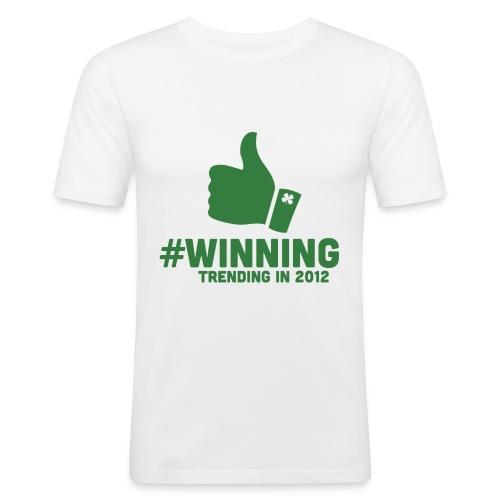 #Winning - Men's Slim Fit T-Shirt