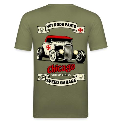 hot rod garage t-shirt - Men's Slim Fit T-Shirt