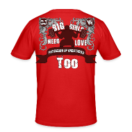 T-Shirts ~ Men's Slim Fit T-Shirt ~ Big Girls Need Love Too BACK
