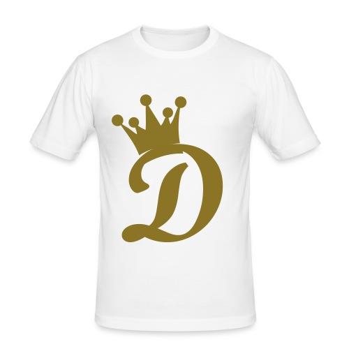 Diamond Crown White/Gold - Men's Slim Fit T-Shirt