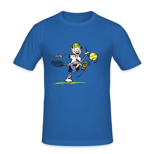 Tennisshirt Cartoon - Männer Slim Fit T-Shirt