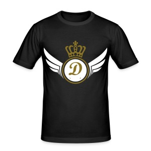 Diamond Crown Black/Gold and White - Men's Slim Fit T-Shirt