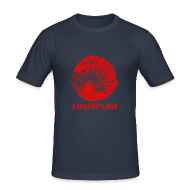 T-Shirts ~ Men's Slim Fit T-Shirt ~ Lucidflow Logo Red