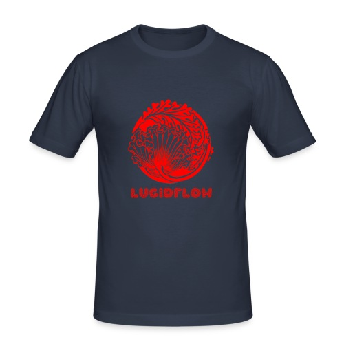 Lucidflow Logo Red - Men's Slim Fit T-Shirt