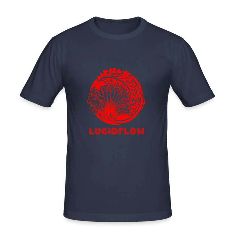 Lucidflow Logo Red - Men's Slim Fit T-Shirt