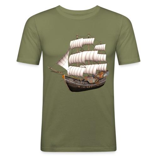 Old Sailboat - Männer Slim Fit T-Shirt