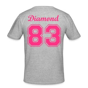 Diamond 83 Grey/Pink - Men's Slim Fit T-Shirt