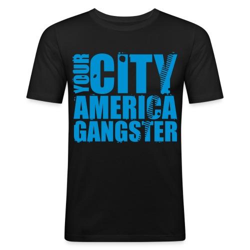 T-shirt SLIM/FIT AMERICA GANGSTER - T-shirt près du corps Homme