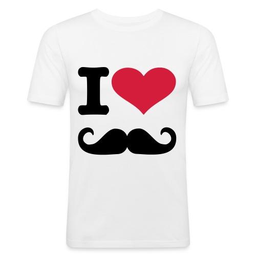 Mannenshirt-korte mouwen-i-Love - slim fit T-shirt
