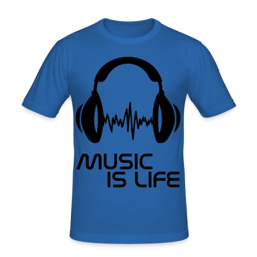 Music Is Life T-Shirt - Men's Slim Fit T-Shirt