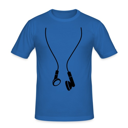 Oversised Headphone T-Shirt - Men's Slim Fit T-Shirt