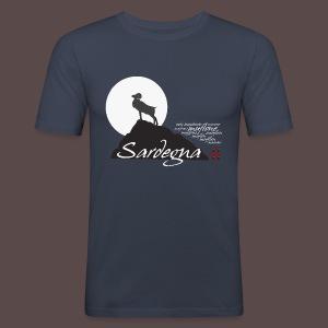 Muflone notturno - Maglietta aderente da uomo
