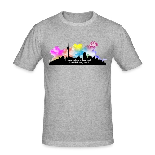 Berlin Skyline Männer Slim Fit Shirt - Männer Slim Fit T-Shirt
