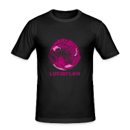 T-Shirts ~ Men's Slim Fit T-Shirt ~ Lucidflow Logo Pink