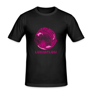 Lucidflow Logo Pink - Men's Slim Fit T-Shirt