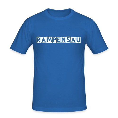 Männer Slim Fit Shirt Rampensau - Männer Slim Fit T-Shirt