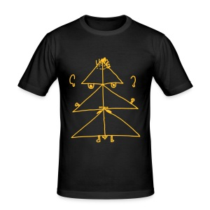 Angry Christmas Tree - Men's Slim Fit T-Shirt