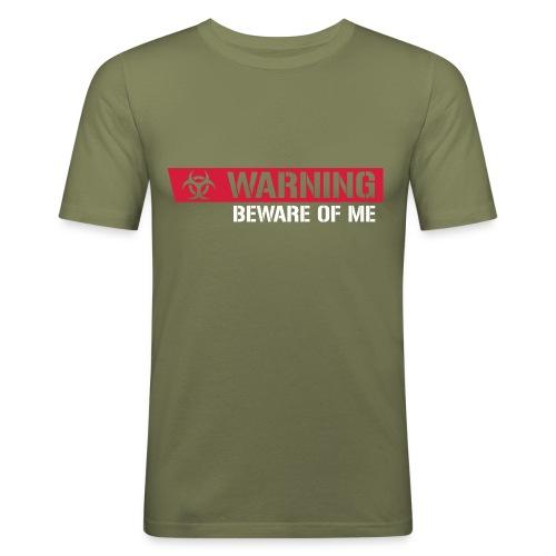 Warnung - Männer Slim Fit T-Shirt