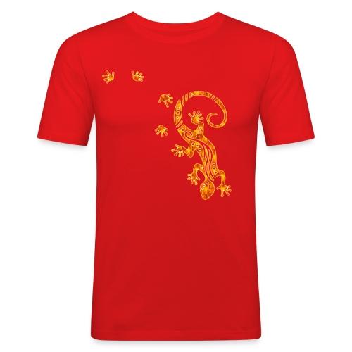 Running Gecko Fire   Männer Shirt slim fit - Männer Slim Fit T-Shirt