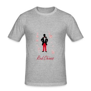 Red Chinos  - Männer Slim Fit T-Shirt