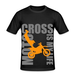T shirt homme motocross is my life - Tee shirt près du corps Homme