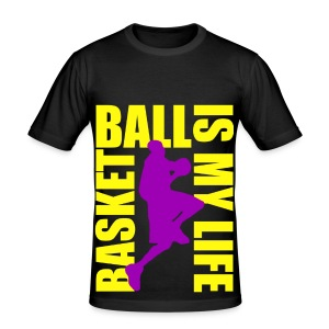 T shirt homme basketball is my life - Tee shirt près du corps Homme
