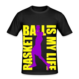 T shirt unisexe basketball is my life - Tee shirt près du corps Homme