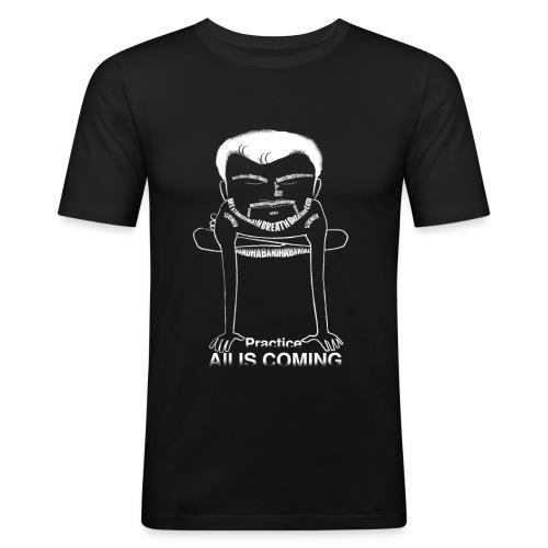 Kukutasana C (practice, all is coming) on slim-fit T - Men's Slim Fit T-Shirt