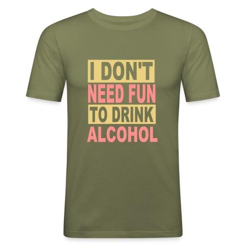 Maglietta aderente da uomo - drink alcohol,fun-t-shirt,maglietta scherzosa,t-shirt anti alcol