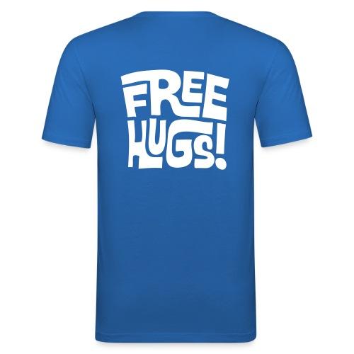Free Hugs (achterkant) - slim fit T-shirt